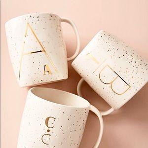 Anthropologie Monogrammed Personality Mug